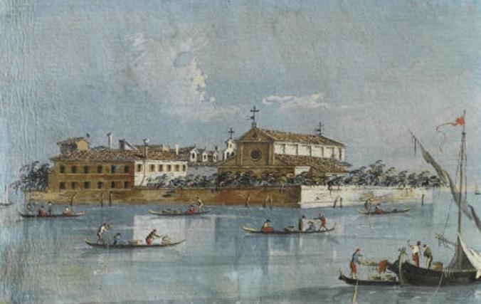 Isola-di-San-Lazzaro-degli-Armeni-Giacomo-Guardi-Venezia-1764-1835